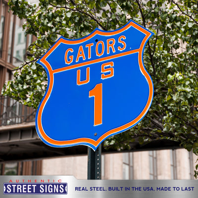 Florida Gators  Steel Route Sign-US-1
