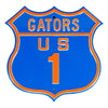 NCAA Florida Gators Metal Route Sign
