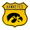 NCAA Iowa Hawkeyes Metal Route Sign- Tigerhawk Logo