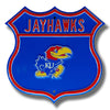 NCAA Kansas Jayhawks Metal Route Sign