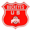 Ohio State Buckeyes  Steel Route Sign Vintage Logo