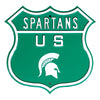 Michigan State Spartans  Steel Route Sign US Logo