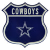 NFL Dallas Cowboys Metal Route Sign