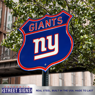 New York Giants Steel Route Sign