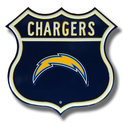 Los Angeles Chargers Steel Route Sign