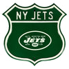 NFL New York Jets Metal Route Sign