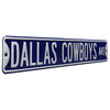 Dallas Cowboys Steel Street Sign-Dallas Cowboys AVE on Navy