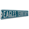 Philadelphia Eagles Steel Street Sign-EAGLES TERRITORY