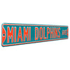 Miami Dolphins Steel Street Sign-MIAMI DOLPHINS AVE