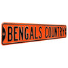 Cincinnati Bengals Steel Street Sign-BENGALS COUNTRY