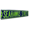 Seattle Seahawks Steel Street Sign-SEAHAWKS STREET
