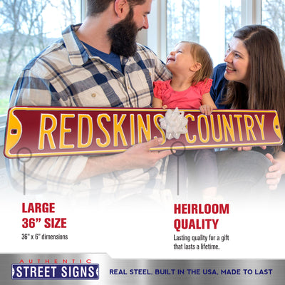 Washington Redskins Steel Street Sign-REDSKINS COUNTRY