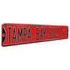 Tampa Bay Buccaneers Steel Street Sign-TAMPA BAY BUCS AVE