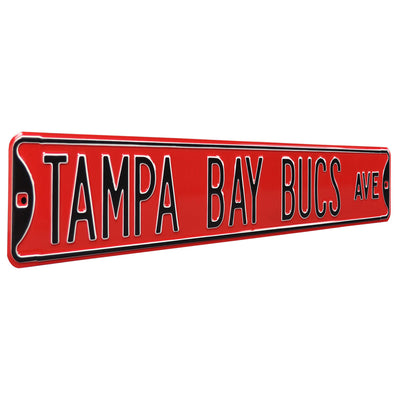 Tampa Bay Bucs Steel Street Sign-TAMPA BAY BUCS AVE