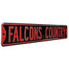 Atlanta Falcons Steel Street Sign-FALCONS COUNTRY