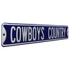 Dallas Cowboys Steel Street Sign-COWBOYS COUNTRY