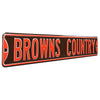 Cleveland Browns Steel Street Sign-BROWNS COUNTRY