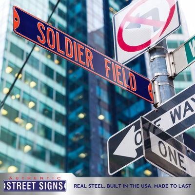 Chicago Bears Steel Street Sign-SOLDIER FIELD