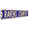 Baltimore Ravens Steel Street Sign-RAVENS COUNTRY