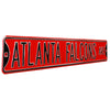 Atlanta Falcons Steel Street Sign-ATLANTA FALCONS AVE