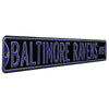 Baltimore Ravens Steel Street Sign-BALTIMORE RAVENS AVE