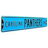 Carolina Panthers Steel Street Sign Throwback Colors-CAROLINA PANTHERS AVE