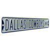 Dallas Cowboys Steel Street Sign-Dallas Cowboys AVE on Silver