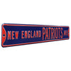 New England Patriots Steel Street Sign-NEW ENGLAND PATRIOTS AVE