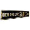 New  Orleans Saints Steel Street Sign-NEW ORLEANS SAINTS AVE