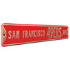 San Francisco 49ers Steel Street Sign-SAN FRANCISCO 49ERS AVE
