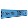 Tennessee Titans Steel Street Sign-TENNESSEE TITANS AVE