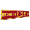 Washington Redskins Steel Street Sign-WASHINGTON REDSKINS AVE