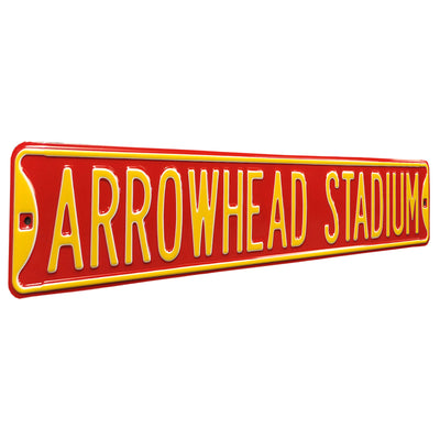 Kansas City Chiefs Steel Street Sign-ARROWHEAD STADIUM