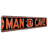 Cincinnati Bengals Steel Street Sign with Logo-MAN CAVE