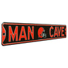 Cleveland Browns Steel Street Sign with Logo-MAN CAVE