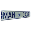 Dallas Cowboys Steel Street Sign with Logo-MAN CAVE on Silver