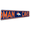 Denver Broncos Steel Street Sign with Logo-MAN CAVE