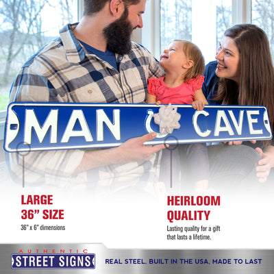 Indianapolis Colts Steel Street Sign with Logo-MAN CAVE