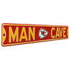 Kansas City Chiefs Steel Street Sign with Logo-MAN CAVE