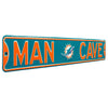 Miami Dolphins Steel Street Sign with Logo-MAN CAVE