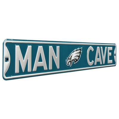 Philadelphia Eagles Steel Street Sign with Logo-MAN CAVE