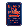Chicago Bears Steel Parking Sign-ALL OTHERS WILL BE SACKED