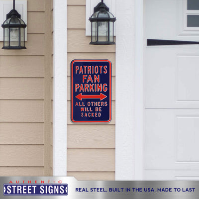 New England Patriots Steel Parking Sign-ALL OTHERS WILL BE SACKED