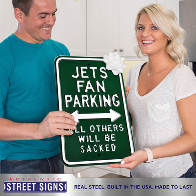 New York Jets Steel Parking Sign-ALL OTHERS WILL BE SACKED