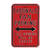 Arizona Cardinals Steel Parking Sign-ALL OTHERS WILL BE SACKED