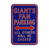 New York Giants Steel Parking Sign-ALL OTHERS WILL BE SACKED