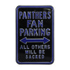 NFL Carolina Panthers Metal Parking Sign