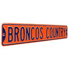 Denver Broncos Steel Street Sign-BRONCOS COUNTRY