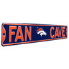 Denver Broncos Steel Street Sign with Logo-FAN CAVE