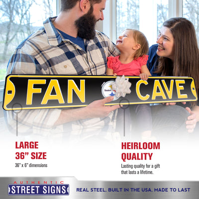 Pittsburgh Steelers Steel Street Sign with Logo-FAN CAVE